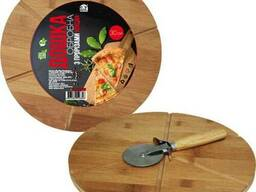 Доска разделочная бамбуковая с ножом SNT 30 х 1,5 см