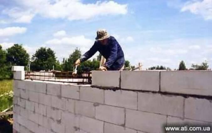 Доставим и выполним кладку стен из автоклавного газобетона
