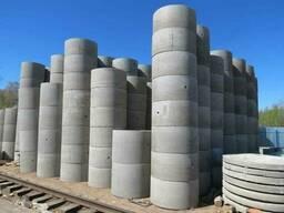 Доставка бетонных колец, установка колодязных колец