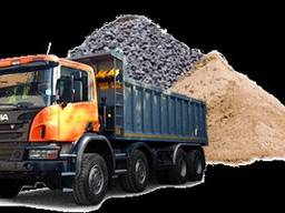 Доставка песка щебня напрямую с карьера от производителя