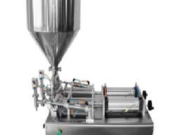 Дозатор для густых ликвидных продуктов (мед, сгущенное молоко) с двумя головками