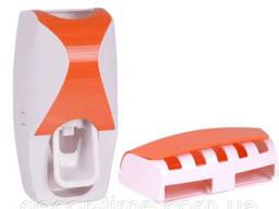 """Дозатор зубной паст с держателем для щеток """"Оранжевый"""". .."""