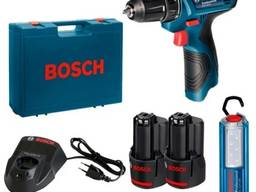Дрель-шуруповёрт Bosch 2 аккумулятора в наборе