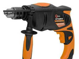 Дрель ударная Storm 850Вт, 0-2800об/мин,1.5-13мм, датчик износа щеток Intertool WT-0108