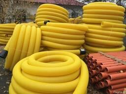 Дренажные трубы пвх в бухтах 110-160-200 мм