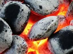 Древесный брикет, уголь для мангала, гриля, барбекю