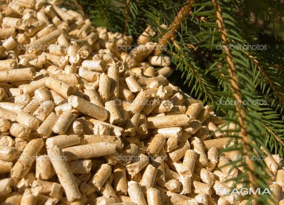 Древесный наполнитель для подстилки животным, гранулы