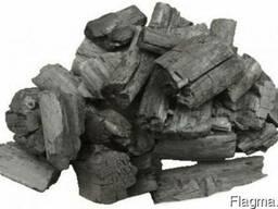 Древесный уголь дуб, ясень, береза и др твердые породы