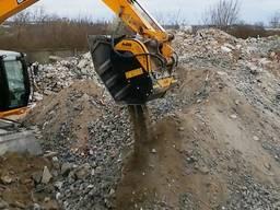 Дробление бетона дробильным ковшом MB Crusher BF 80. 3