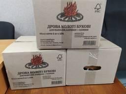Дрова колоті у коробках