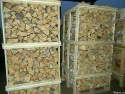 Дрова колотые дуб, ясень сухие в ящиках 1м*1м*2метра