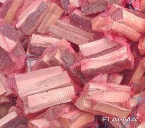 Дрова колотые в сетках с доставкой