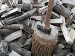 Дрова Сумы Зил дуб ясень колотые метровка обрезки доски брикеты катушки - фото 2