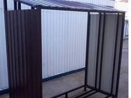 Дровница большая разборная с крышей куб-4