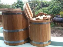 Березовые кадки для солений грибов на 10 л