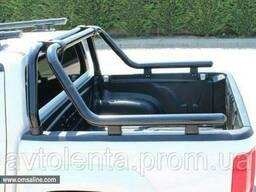 Дуга на кузов Fiat Fullback 2016- (черная) 76 мм. Omsa