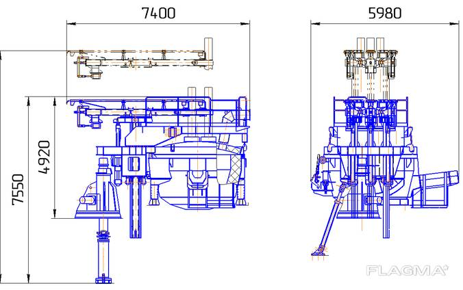 Дуговая сталеплавильная печь переменного тока ДСП 6,0