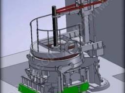 Дуговая сталеплавильная печь постоянного тока ДППТ 6,0