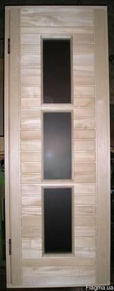 """Дверь для бани или сауны. Модель """"НОЧЬ НЬЮ-ЙОРКА"""""""