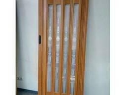 Дверь гармошка остекленная, 86х203, ассортимент