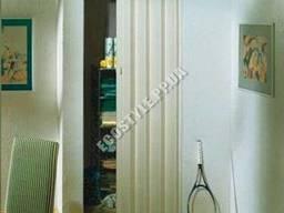 Дверь-гармошка Rapid 88x203 ясень белый (бежевый оттенок)