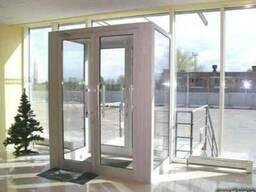 Двери алюминиевые входные теплые