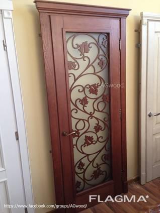 Двери из натурального дерева (массива) ясень, дуб.