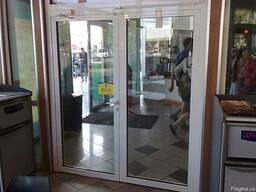 Двери противопожарные алюминиевые остекленные