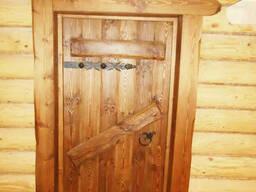 Двери в баню деревянные №7
