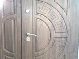 Двери входные двустворчатые с накладками МДФ