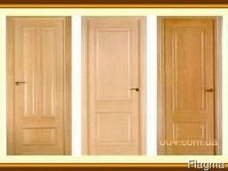 Двери входные, межкомнатны. Из дуба, ясеня, сосны