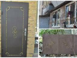 Двери, ворота, калитки, решетки, навес, козырек, лестничные проемы