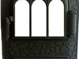 Дверка арочна з термосклом Микулин