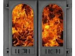 """Дверка камин герметя """"Горница-2""""краш со стекл ДКГ-8С RLK8415"""