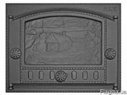 """Дверка каминная крашеная ДК-2Б RLK 345 """"Домик в деревне"""""""