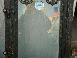 Дверца для коптильни, барбекю со стеклом.