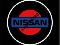 Дверной логотип LED LOGO Nissan подсветка дверей, наличие. ..