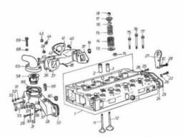 Двигатель Д-3900К. Головка блока цилиндров.