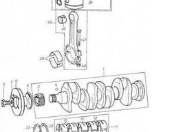 Двигатель Д 3900к - Коленчатый вал для погрузчика Балканкар