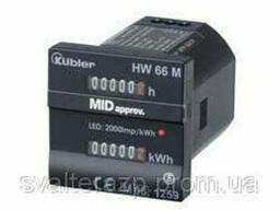 Двойной счетчик моточасов и электроэнергии HW 66 Kubler
