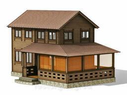 Двухэтажный деревянный дом для небольшого узкого участка...