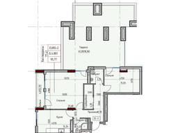 Двухкомнатная квартира с большой террасой.