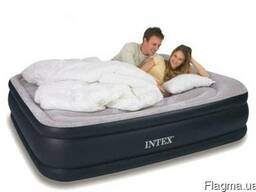 Двухспальная флокированная кровать матрасIntex 67736