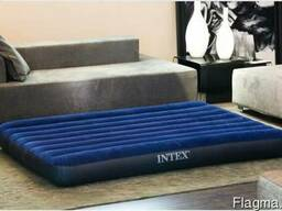 Двуспальный надувной 152-203-22 см матрас матрац intex