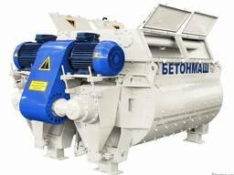 Двухвальный бетоносмеситель БП-2Г-4500 объём 4500 л