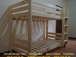 Двухъярусная кровать детская (дерево)