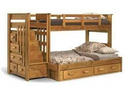 Двухъярусная кровать из дерева для детей от 3 лет Под заказ
