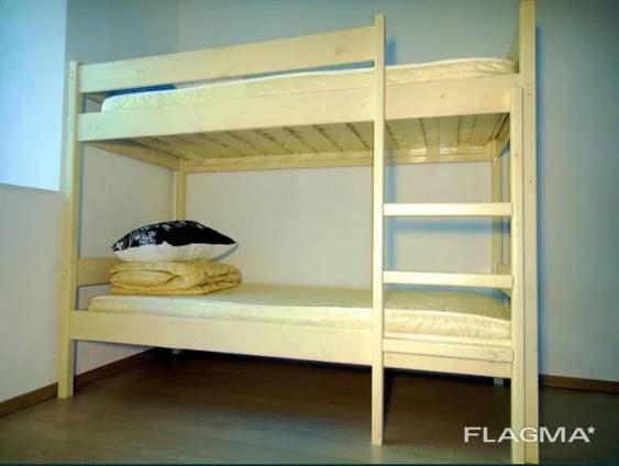 Двухъярусная кровать из дерева для Хостела - 80х190x160h