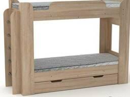 """Двухъярусная кровать с бортиками и лестницей """"Твикс """""""