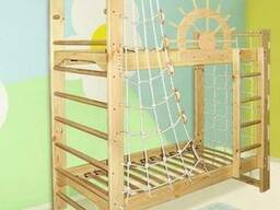 """Двухъярусная кровать-спортивный уголок """"Пират"""""""